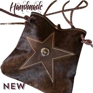 NEW Hand made cowhide Star Western  bag